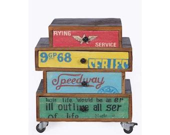 Speedway Stacked Bedside Cabinet