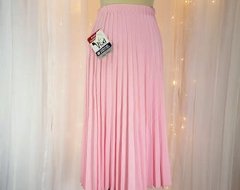 Vintage - Pleated Skirt - By Milliken - Pink - 70s / 80s  - Tagged - Never Worn - New Old Stock
