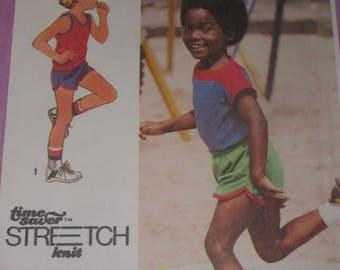 Vintage Simplicity Pattern 9396 for a Boys Short Set Sizes 4-6