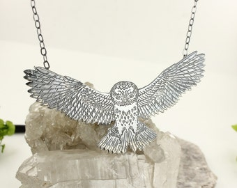 Owl necklace - Witchcraft necklace - Sterling silver necklace - Handmade