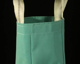 Mini bag, 100% PVC, micro perforated, upcycled fabric, woven in France by team look