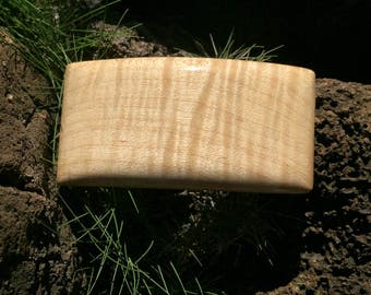 Handcrafted Curly Maple Wood Barrette Made In Hawaii