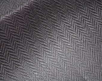 Black dark grey strips canvas pure linen fabric Upholstery Decorator heavy Weight ECO-friendly graphite grey linen fabric
