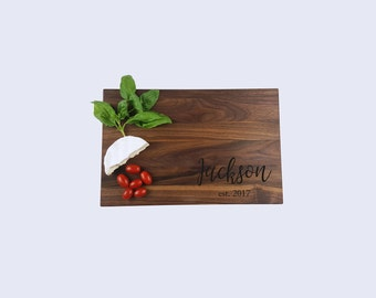 Couple Wedding Gift Gourmet Gift Medium Personalized Cutting Board Laser Engraved Cutting Board Chef Gift for Him Gift for Her Gift for Cook