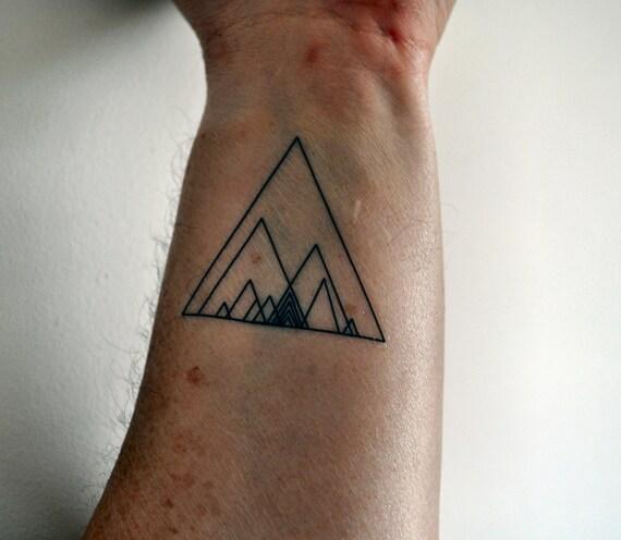 Tatouage temporaire géométriques Triangle, Hipster tatouage temporaire,  tatouage temporaire Indie, Geometirc Art, tatouage temporaire minimaliste,