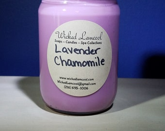Soy Wax Lavender Chamomile Jar Candle