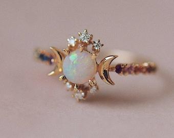 Rainbow Wandering Star Ring