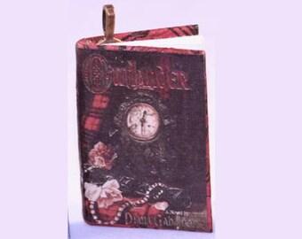 Outlander Mini Book Pendant - Outlander Necklace - Diana Gabaldon - Romantic Historic Fiction, Romance Novel - Outlander Jewelry - Outlander