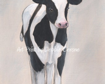 Farm Animal Print, Baby Animal Wall Art, Nursery Wall Art, Cow, Moo, Farm Animal Sounds, Baby Animal Nursery Art, Gender Neutral Baby Gift