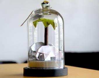 Couple Eléphants Origami, Cadeau Anniversaire de Mariage, Taxidermie, Cadeau Mariage, Cadeau pour les Femmes, Décoration Bureau, Naissance