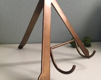 Vintage Metal A-Frame CookBook Holder/ Tripod Book Display Stand