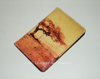 High Quality Faux Leather Passport Holder Case (Tree)