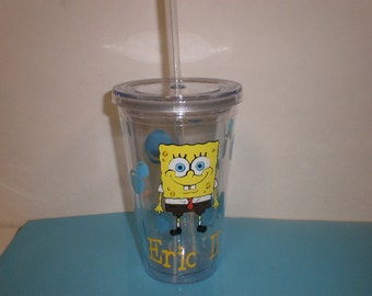 personalized Tumbler with Spongebob