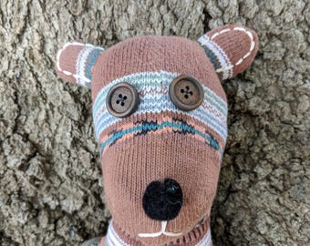 Sock Bear -- Handmade Stuffed Animal Sock Bear