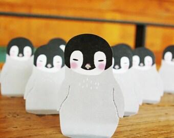 Kawaii Baby Penguin Index Sticky Memo Pad
