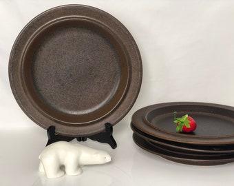 Lot of 4 dinner plate Ruska Arabia of Finland. Design Ulla Procope 70s. Brownish & Ruska dinner plates | Etsy
