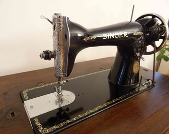 antique singer sewing machine 1928 with table - very rare! serialnumber: c3279862