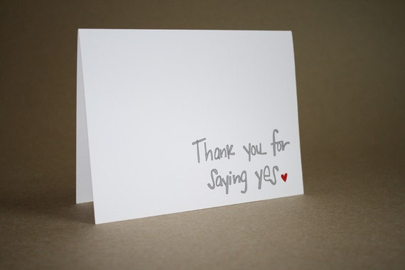 Sweet anniversary card thank you for saying yes