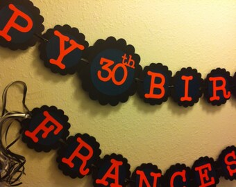 30th Birthday Decorations Personalization Available