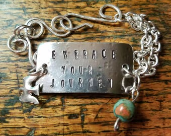 Embrace Your Journey, Handstamped Bracelet