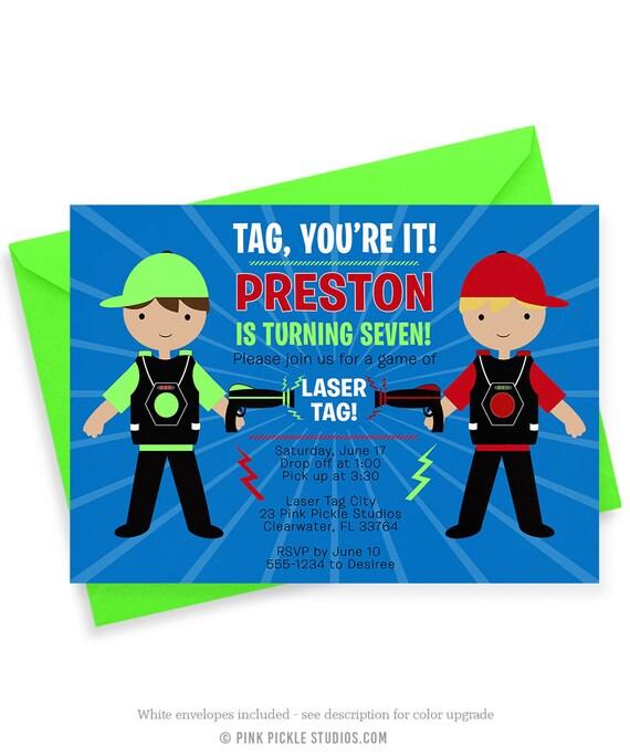 laser tag invitation laser tag party laser tag birthday rh etsy com Laser Quest Theme Park Clip Art