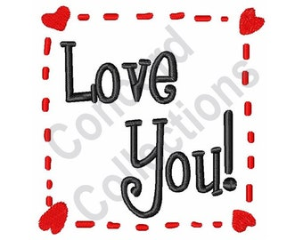 Love You - Machine Embroidery Design