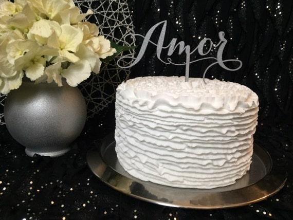 Wedding Cake Topper, Amor Cake Topper, Cake Topper For Wedding, Glitter Cake Topper, DIY Cake Topper, DIY Wedding, DIY Wedding Decorations