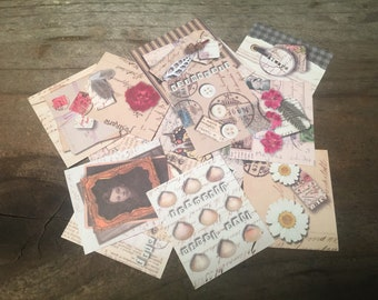 Paper Tuck Tags Paper Card Stock Paper Junk Journal Stationary Paper Cards Paper Tags Paper Crafting Journal Planner Mixed Media Small Paper