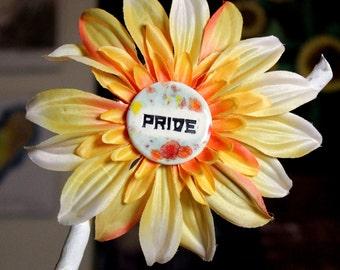 Pride Flower Hair Clip in Orange