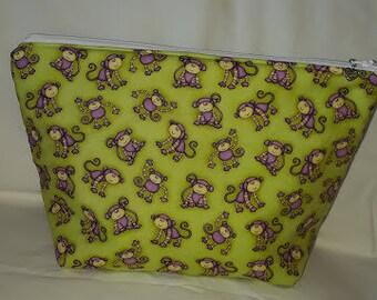 Cotton bag with monkey print