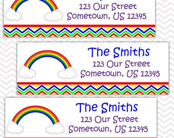 Rainbow - Personalized Address labels, Stickers