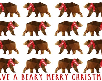 Christmas Card- Have A Beary Merry Christmas