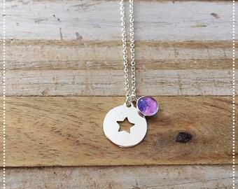 """""""Estrella Amatista"""" necklace 925 sterling silver and Amethyst"""