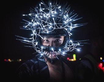 FREE SHIPPING! 'Juggernaut' Ziptie Headpiece. Burning Man. Coachella.