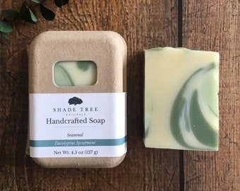 Eucalyptus Spearmint Soap. Natural Soap. Herbal Skincare. Herbal Soap. Green Skin Care. Essential Oil Soap. Gift Under 10. Eco Friendly Soap