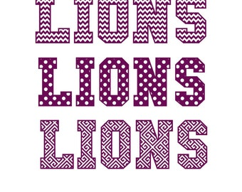 Lions 3 different cutout patterns for your Team Jersey SVG Studio PDF Png Eps