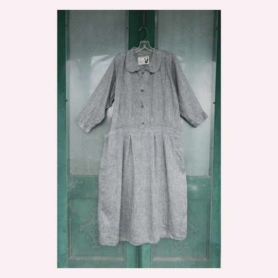 Angelheart Designs Retro Mia's Magic Dress in Gray Linen size S