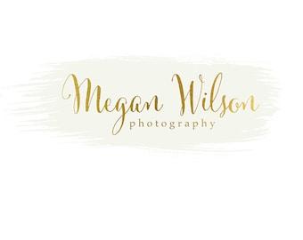 Pre-made Logo Design & Photography Watermark - Watercolor logo - Gold Logo - Watermark Design - Photography Logo - Premade Logo Design 743