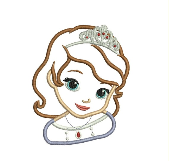 Sofia The First Applique Embroidery Design
