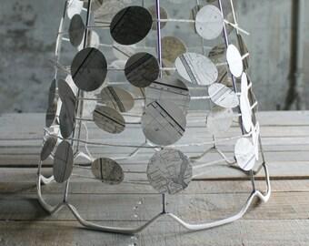 Vintage lampshade frame etsy vintage scalloped lampshade frame keyboard keysfo Choice Image