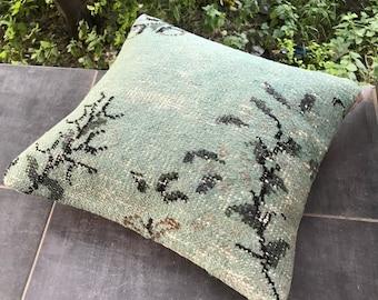 Decorative turkish handmade pillow 18x18 inches 45x45 cm