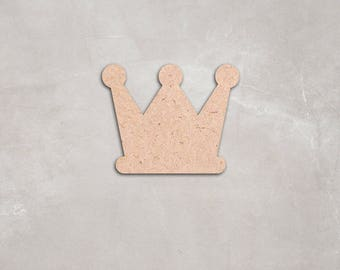 "Wooden crown Cutout Shape, Unfinished,craft supplies,figure,decoration, 2"" 34"" Home Decor,Wall Hanging,DIY, do it yourself, MDF shape"