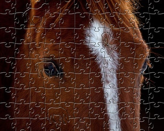 Horse Portrait Zen Puzzle - Hand crafted, eco-friendly, American made artisanal wooden jigsaw puzzle