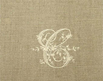 Monogrammed Oatmeal Linen Guest Towels