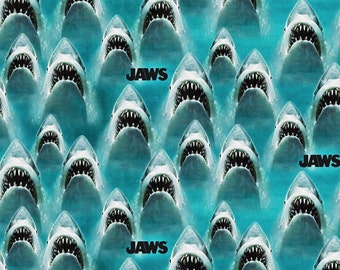 Universal Jaws Classic Fabric - Marine - sold by the 1/2 yard