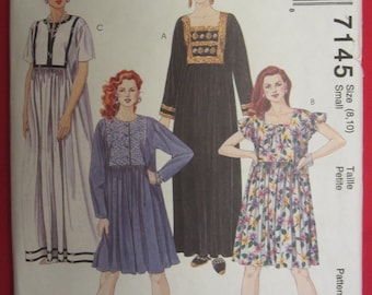 McCall's Dress Pattern 7145 Misses Size Small (8 and 10)