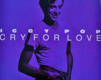 "IGGY POP ""Cry For Love"" Vinyl 12"" A&M Records 1986 ""Little Miss Emperor"" Punk Glam Shock Rock Post Punk Extended Dance Versions  David Bowie"