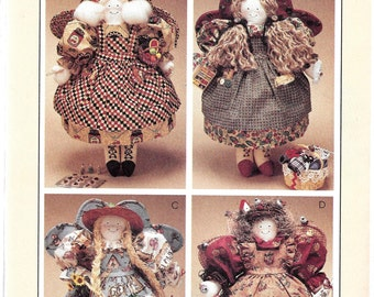 "McCall's Crafts Pattern 8138 Four 16 1/2"" ANGEL DOLLS"