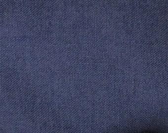 SOLID Indigo blue textured linen/cotton/poly blend multipurpose fabric