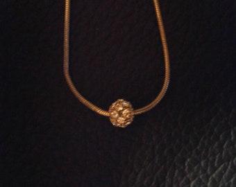 Small Round Disco Ball Necklace